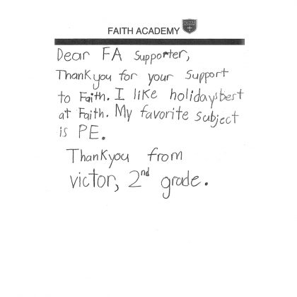 Thank You From Victor
