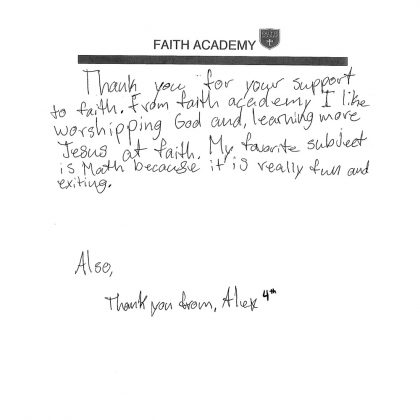 Thank You From Alex