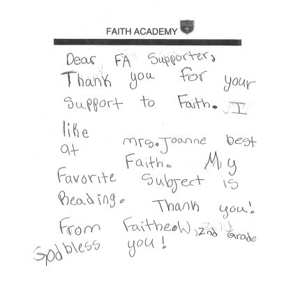 Thank You From Faitheow